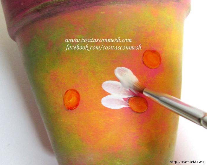 Ромашки на цветочном горшке. Идея росписи (9) (700x559, 245Kb)