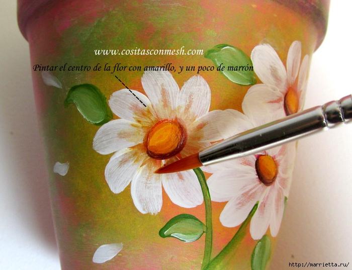 Ромашки на цветочном горшке. Идея росписи (11) (700x537, 273Kb)