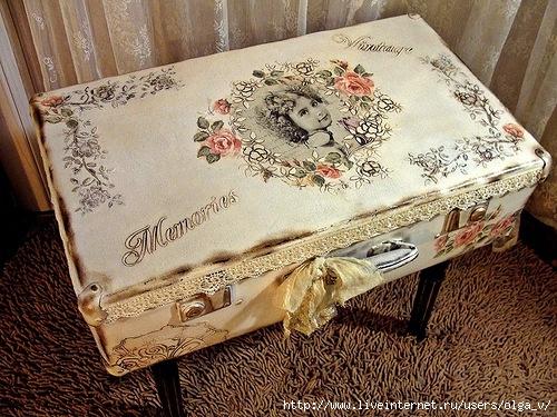 Своими руками декор старых чемоданов