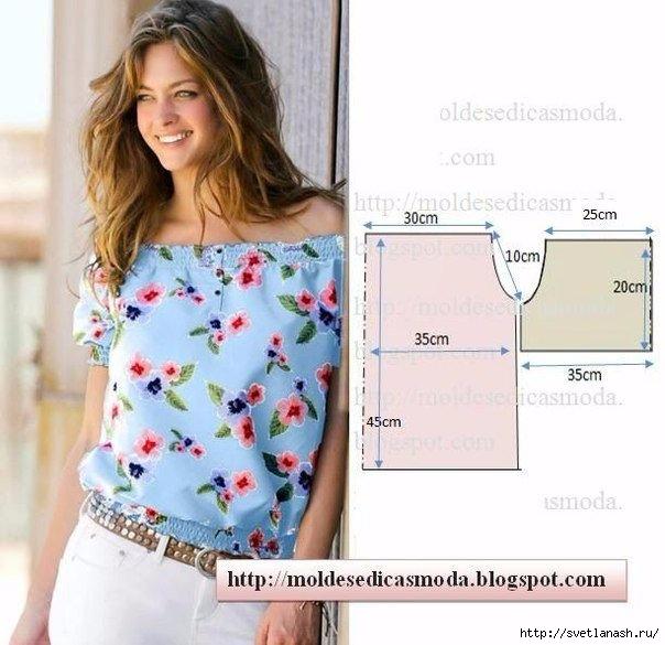 Блузка для начинающих своими руками фото