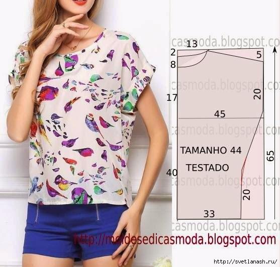 Как сшить летнюю блузку без рукавов
