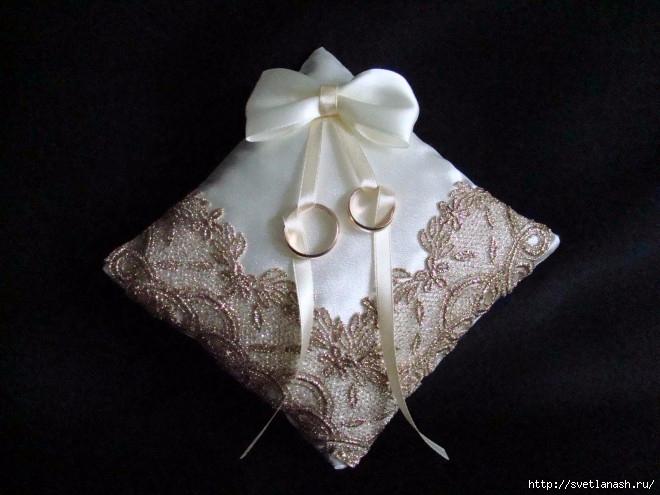 Свадебные подушечки своими руками для колец