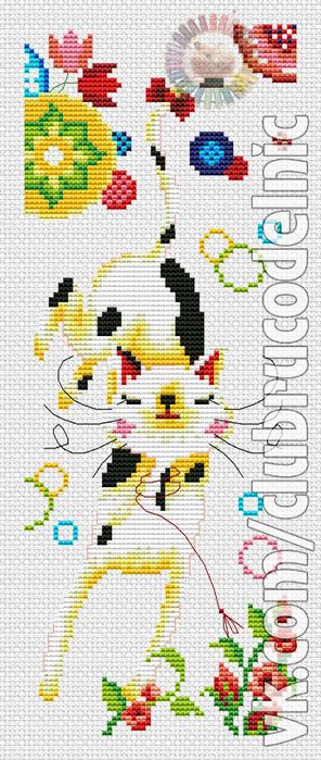Кошка с мыльными пузырями (296x700, 290Kb)