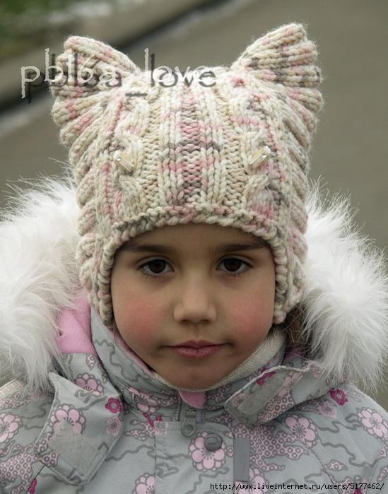 Вязанные шапки для девочки 5 лет