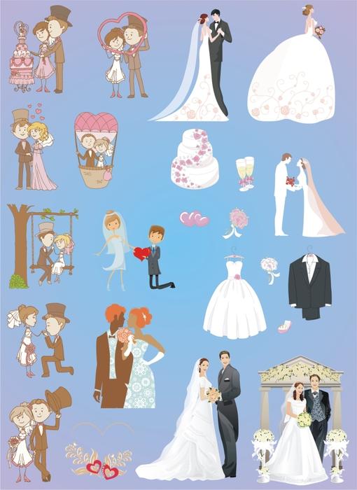 Свадебный клипарт на прозрачном фоне. 40 png. Часть 2.