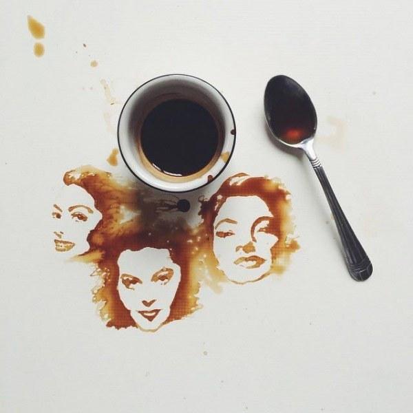 кофейные рисунки (600x600, 45Kb)