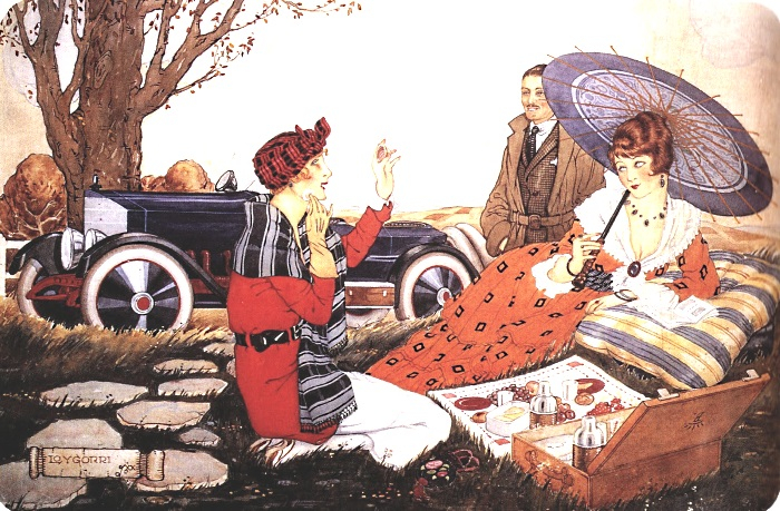Blanco y Negro. La merienda de las automovilistas (1921) (700x459, 457Kb)