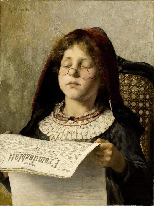 Girl Reading (c.1882). Georgios Jakobides (Greek, 1853-1932) (522x700, 68Kb)