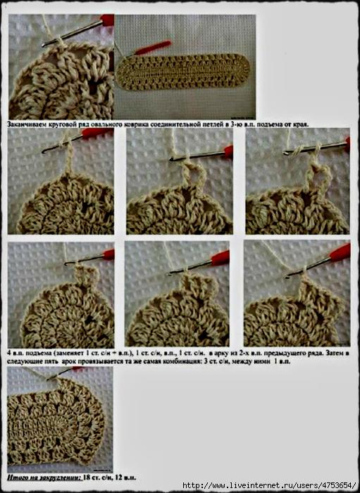 Мастер класс вязание ковриков крючком - AVTOpantera.ru