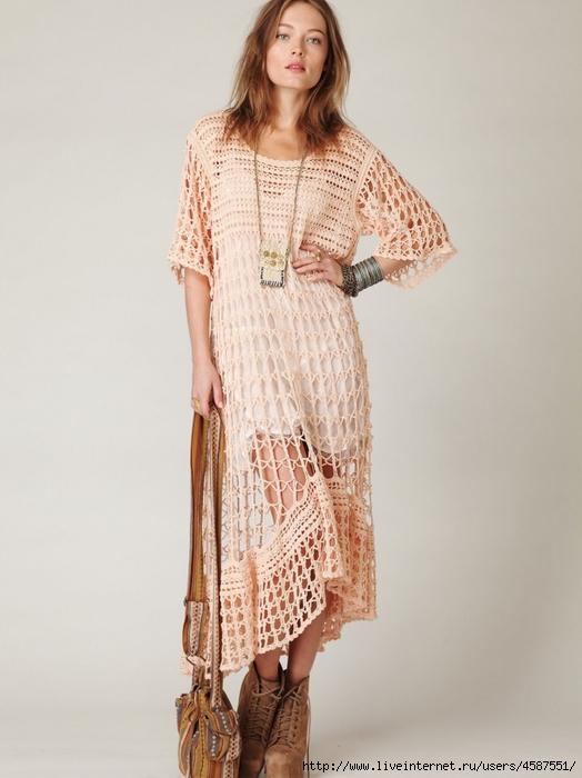 Связать платье в стиле бохо