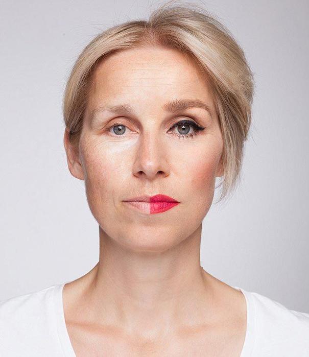 портреты с макияжем и без