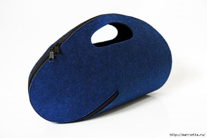 Стильная сумочка-клатч из фетра (2) (700x466, 125Kb)