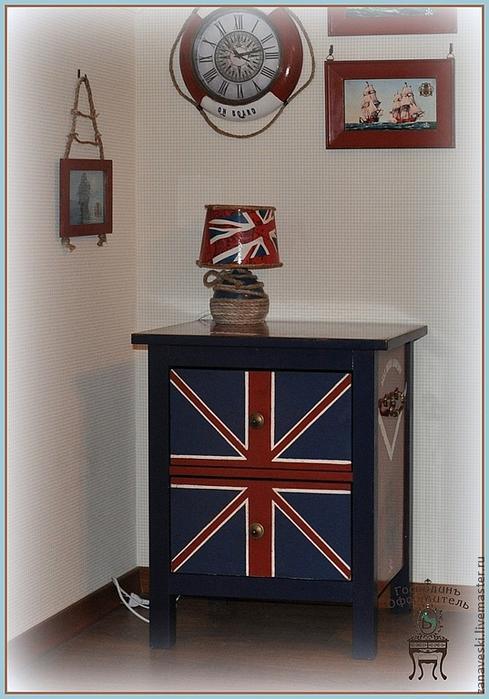 Мастер класс мебель с британским флагом