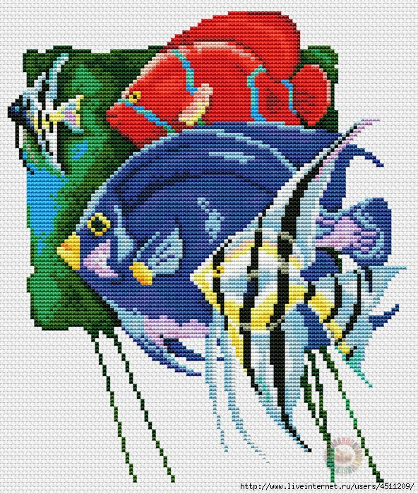 Синяя рыбка (592x700, 508Kb)