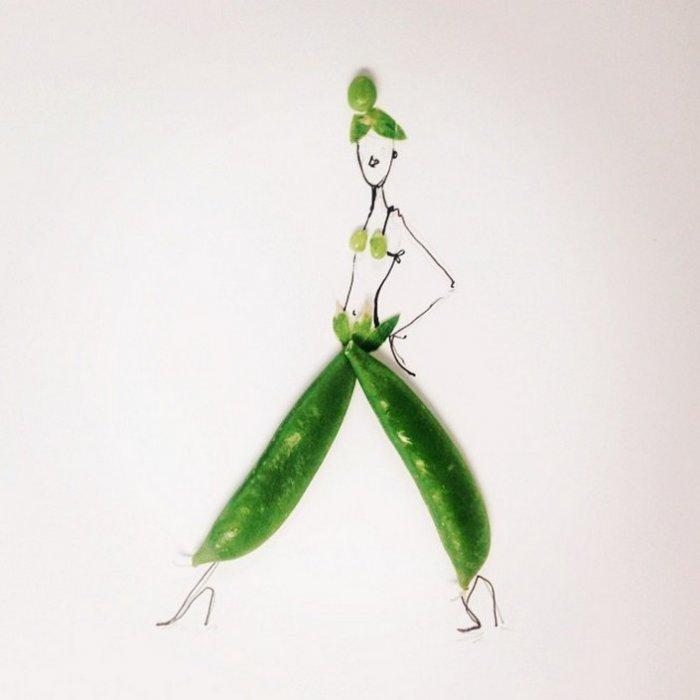 прикольные платья из овощей и фруктов Гретхен Роерс 3 (700x700, 136Kb)
