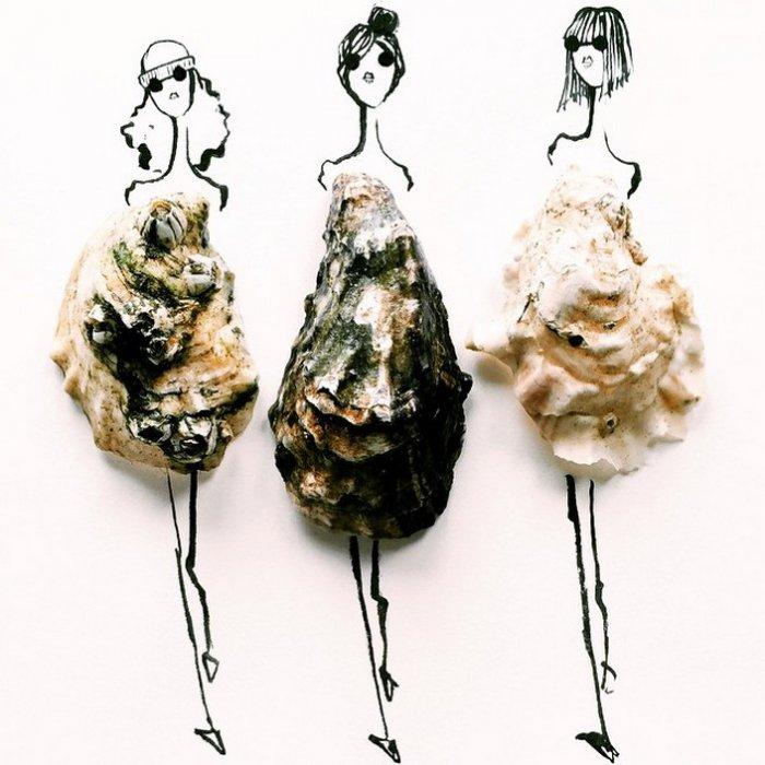 прикольные платья из овощей и фруктов Гретхен Роерс 5 (700x700, 263Kb)