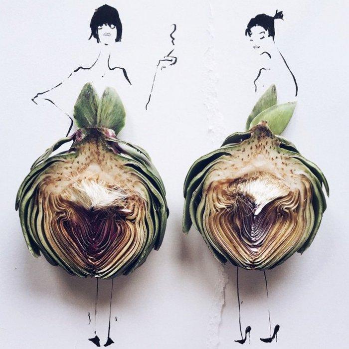 прикольные платья из овощей и фруктов Гретхен Роерс 9 (700x700, 293Kb)