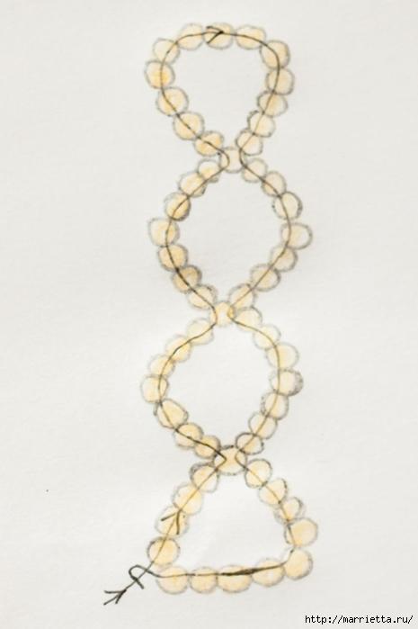 Браслет из бисера. Схемы плетения (2) (465x700, 122Kb)