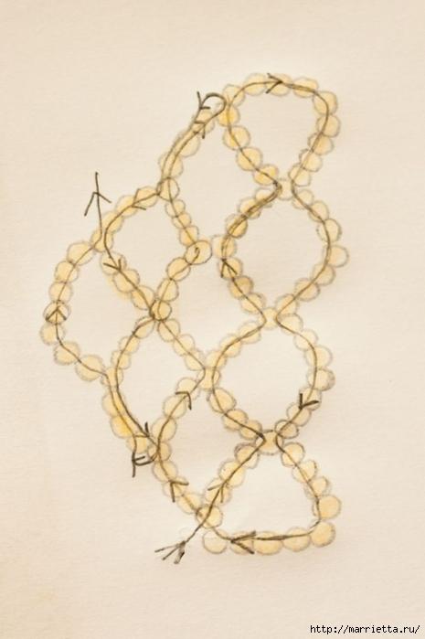 Браслет из бисера. Схемы плетения (4) (465x700, 157Kb)