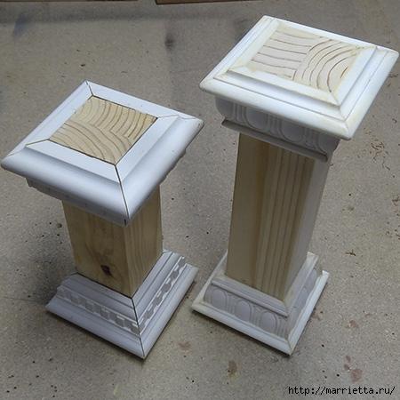 Подсвечники из деревянных брусков и потолочных плинтусов (8) (450x450, 139Kb)
