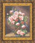 Превью ГН-007 Розы и фиалки (491x600, 378Kb)
