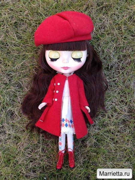 Выкройка пальто и беретки для куклы (1) (450x600, 375Kb)