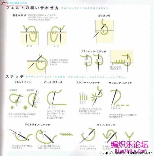 Игрушки из фетра. Японский журнал с выкройками (8) (500x504, 125Kb)