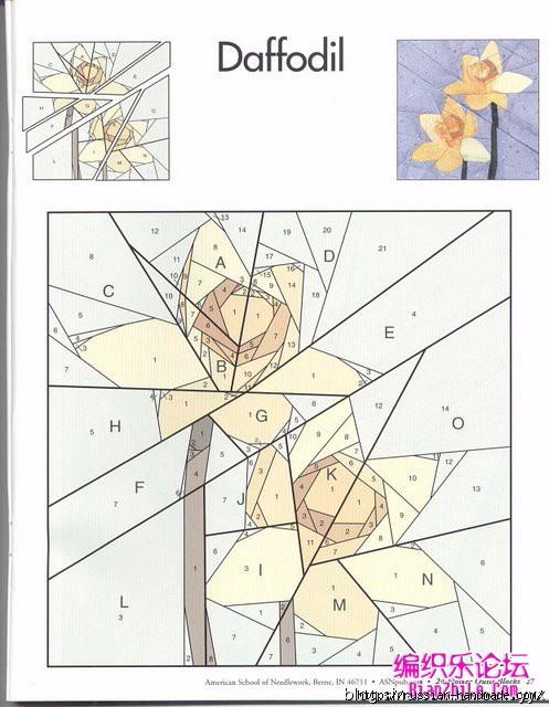 Цветочный квилт. Лоскутные блоки (6) (497x640, 174Kb)