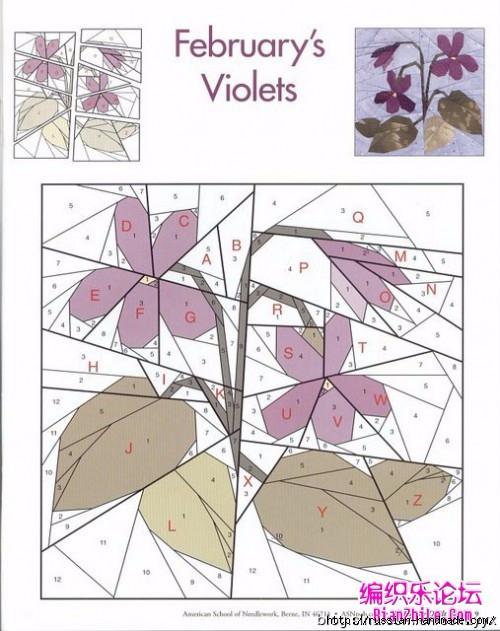 Цветочный квилт. Лоскутные блоки (12) (500x631, 192Kb)