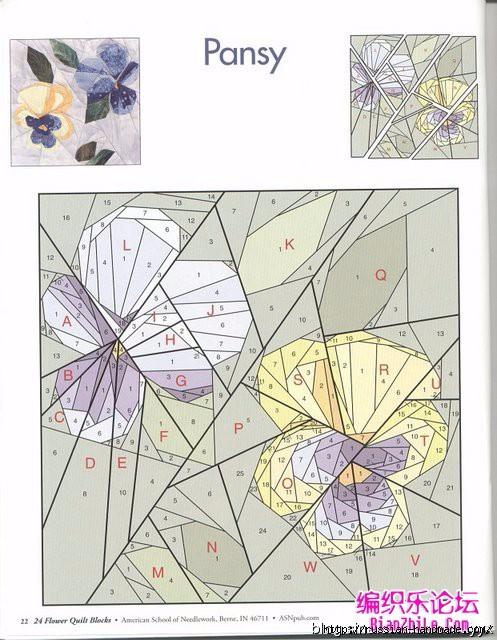 Цветочный квилт. Лоскутные блоки (14) (497x640, 208Kb)