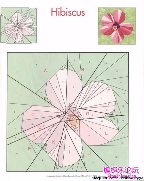 Цветочный квилт. Лоскутные блоки (27) (500x629, 170Kb)