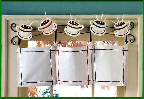 Оригинальная штора для кухни своими руками