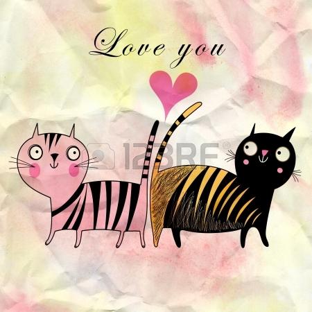 19376898-смешные-кошки-в-любви-на-фоне-акварель-с-сердцем (450x450, 159Kb)