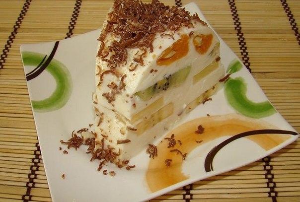Фруктовый торт-желе