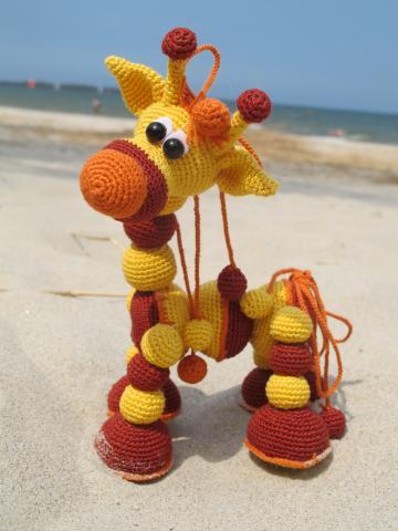 Жираф из шарика схема