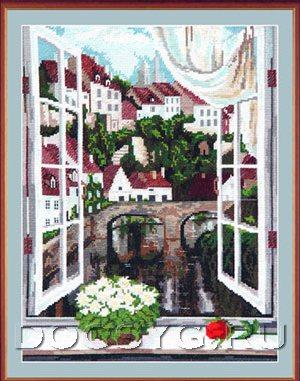 схема вышивки Вид из окна (300x381, 144Kb)