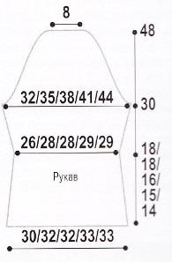 Короткое пальто спицами жаккардовым узором (4) (195x297, 36Kb)