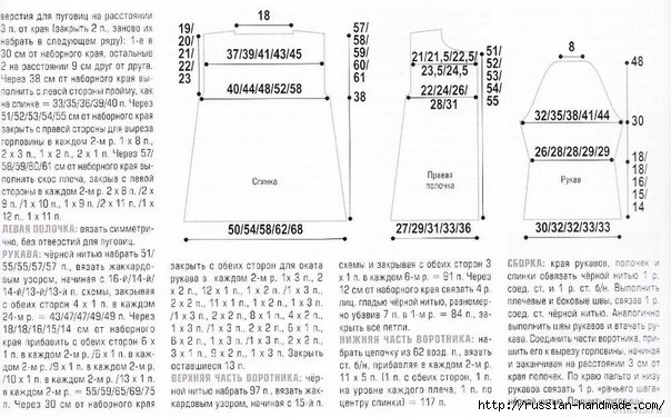 Короткое пальто спицами жаккардовым узором (8) (604x375, 171Kb)