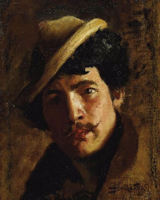 Мужской портрет, возможно, автопортрет (549x686, 450Kb)