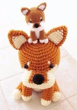 Маленькая собачка амигуруми. Схемы вязания (2) (255x364, 92Kb)