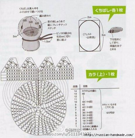Игрушки крючком. ЯЙЦО С УТЯТАМИ амигуруми (2) (463x473, 154Kb)