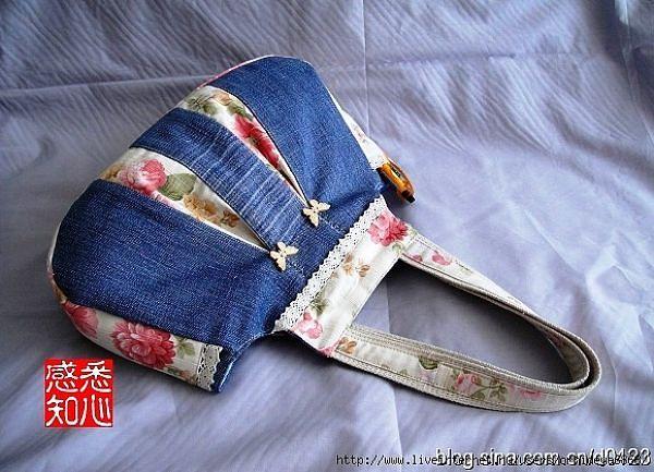 Сумка из джинсовой ткани своими руками фото