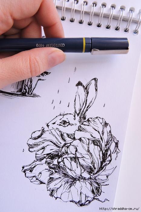 Заяц и Волшебная Шляпа от Shraddha (5) (466x700, 261Kb)