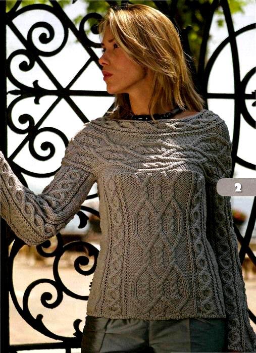Серый узорчатый пуловер 1 (507x699, 136Kb)