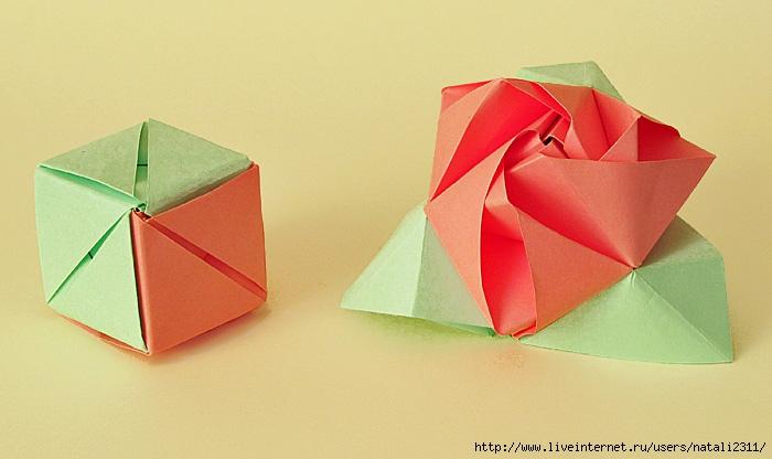 Как сделать оригами из бумаги кубик трансформер