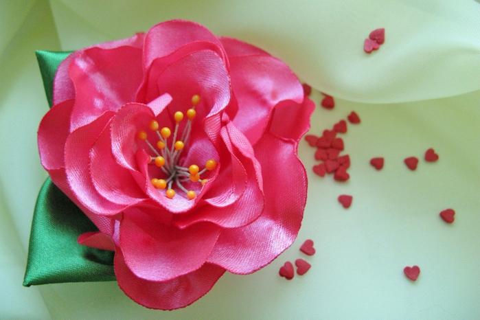 Органза цветы своими руками фото