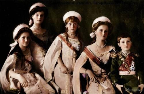 Августейшие дети цветные фото