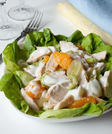 Салат из курицы с фруктами (450x534, 48Kb)