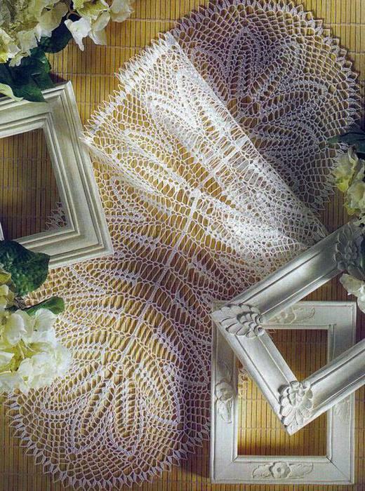 Очаровательные салфетки для декора дома и схемы к ним.  Окончание.  Салфетки крючком Схемы 2. СМОТРИМ ДАЛЕЕ.