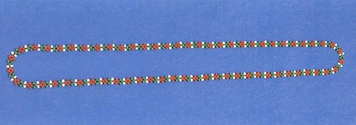 Плетем цепочку с узором так же